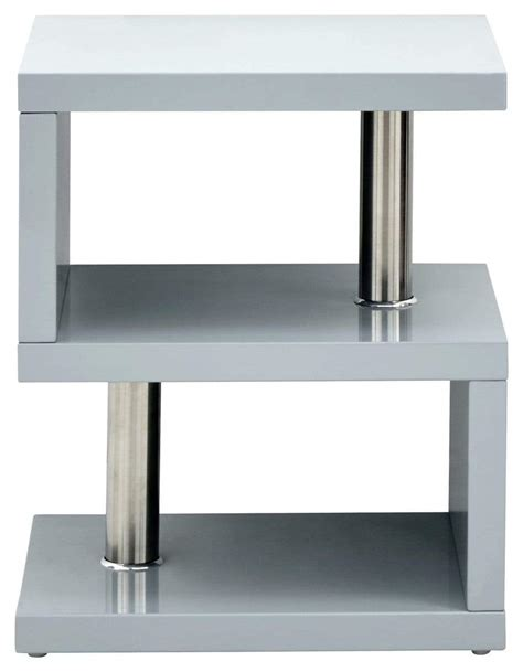 Schmidt 3 piece coffee table set canora grey. Polar High Gloss Led Side Table Grey | GFW - Bed Kings