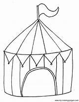 Zirkus Chapiteau Circustent Zirkuszelt Thema Onderwijs Kinderkram Freeprintablecoloringpages Basuh Designlooter μετάβαση sketch template