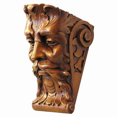 Carving Wood Sculpture Carved Antique Console Bacchus