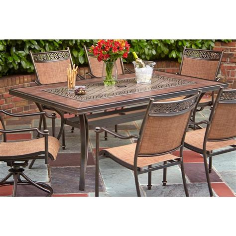 hton bay table l hton bay niles park 5 sling patio dining set portico 7