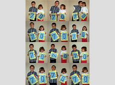 Milestone birthday card idea make numbers for each child
