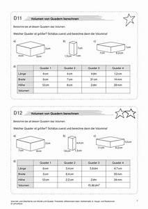 Quader Oberfläche Berechnen : arbeitsbl tter sekundarstufe i lehrerb ro ~ Themetempest.com Abrechnung