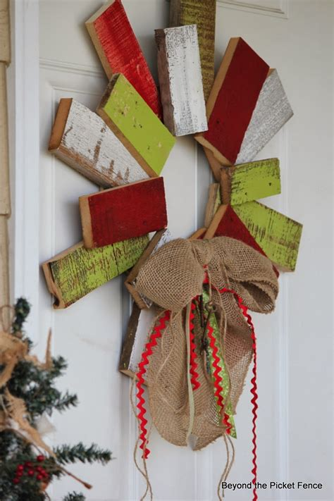 Weihnachtskranz Aus Holz by Beyond The Picket Fence 12 Days Of Day 9