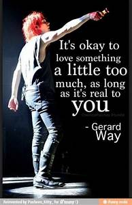Inspirational Quotes By Gerard Way. QuotesGram
