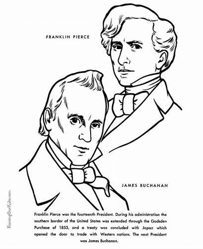 Pierce Franklin James Buchanan Coloring Facts Pages