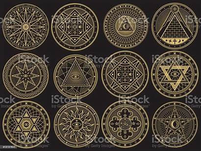 Occult Symbols Witchcraft Esoteric Mystical Alchemy Mystery
