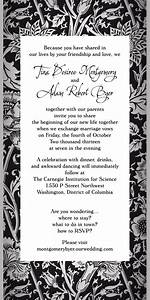fun non traditional wedding invitation wording no rsvp With wedding invitation wording with no rsvp card