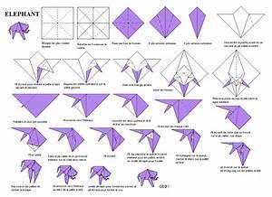 Origami Animaux Facile Gratuit : une feuille de papier une succession de plis pas de ~ Dode.kayakingforconservation.com Idées de Décoration