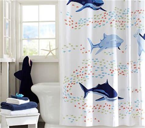 shark shower curtain shark shower curtain pottery barn