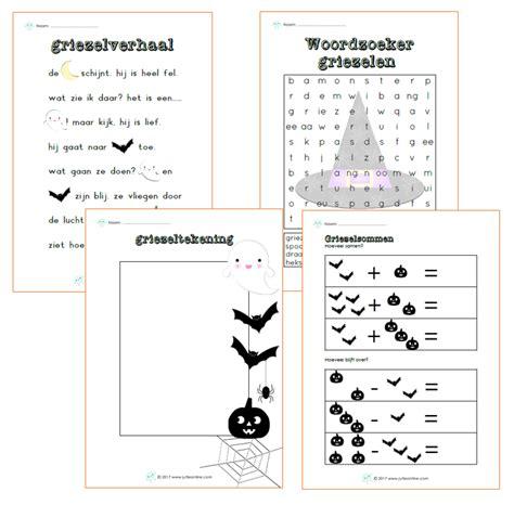 Werkbladen Voor Groep 3 by Werkbladen Bij Het Thema Griezelen Voor Groep 3 Voor De