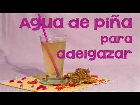 Tomar agua de piña brinda muchos beneficios al organismo