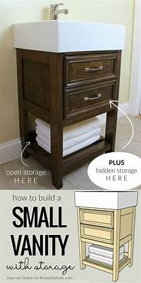 how to build a vanity Remodelaholic | IKEA Hack: How to Build a Small DIY Bathroom Vanity