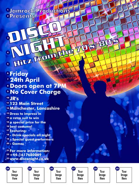 disco flyer ticket printing