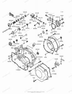 Kawasaki Motorcycle 1992 Oem Parts Diagram For Engine Covers