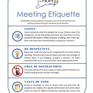 meeting etiquette ct voices  hope