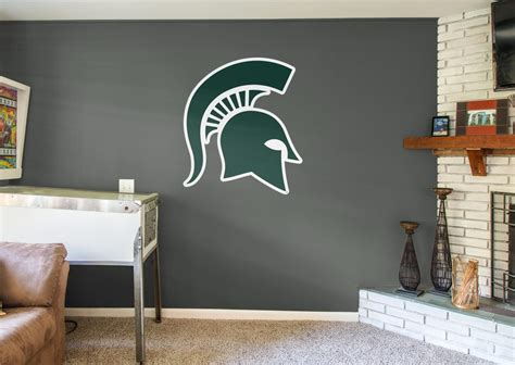 Michigan State Spartans Logo  Giant Officially Licensed. Decorative Shelf Brackets Lowes. Fancy Dining Room Sets. Pottery Barn Dining Room. Pineapple Decorations