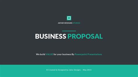 business proposal powerpoint template  piece