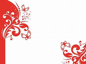 Red Decor and Butterflies Backgrounds