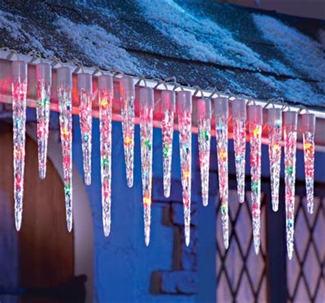 colored icicle lights multi colored icicle string lights from collections etc