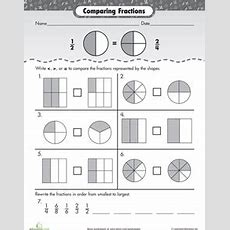 Fraction Fundamentals Comparing Fractions  School  Fractions, Fractions Worksheets, Comparing