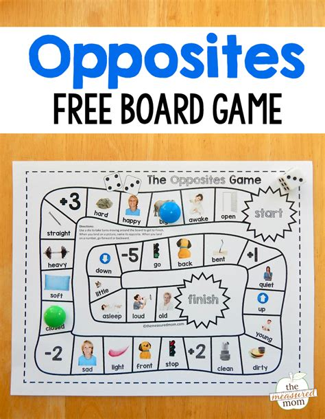 Grab this fun and free opposites game for preschool just