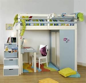 Lit Mezzanine Enfant : lit mezzanine enfant espace loggia ~ Teatrodelosmanantiales.com Idées de Décoration