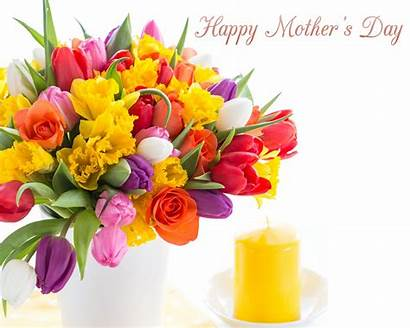 Mothers Flowers Happy Wishes Quotes Mother Tulips