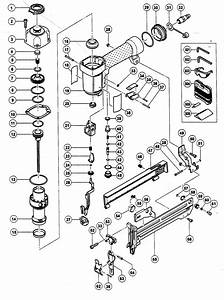 Hitachi N3804ab2 Power Stapler Parts