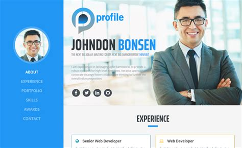 Bootstrap Portfolio Templates Free One Page Bootstrap Portfolio Website Template