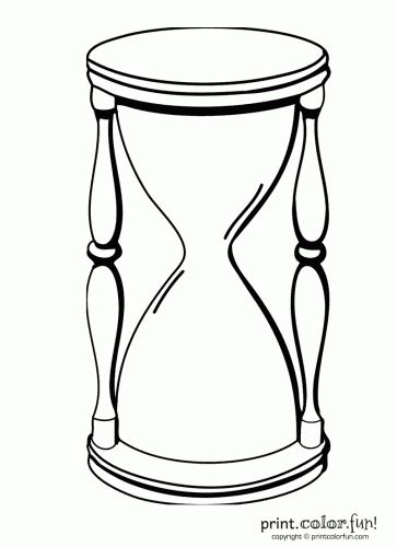 Hourglass coloring page - Print. Color. Fun!
