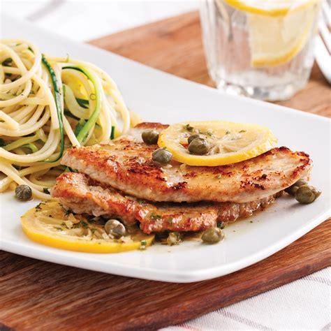 cuisine veau escalopes de veau piccata recettes cuisine et