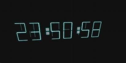 Clock Digital Animation Hover Clocks Web Codemyui