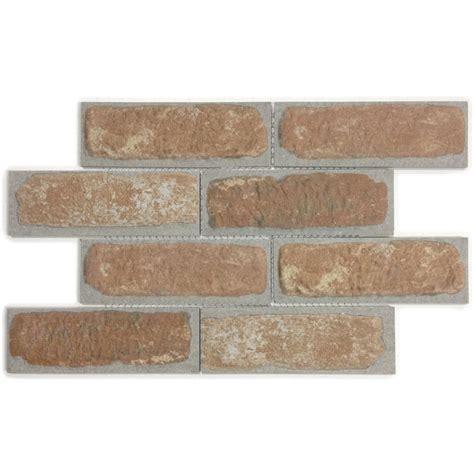shop gbi tile inc brick mosaic orange mosaic