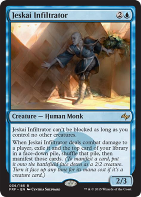 Jeskai Infiltrator From Fate Reforged Spoiler