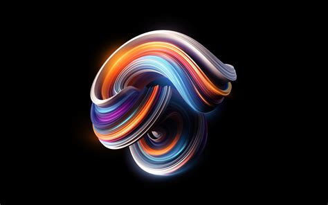 Colorful Curves Mi Stock 4K Wallpapers