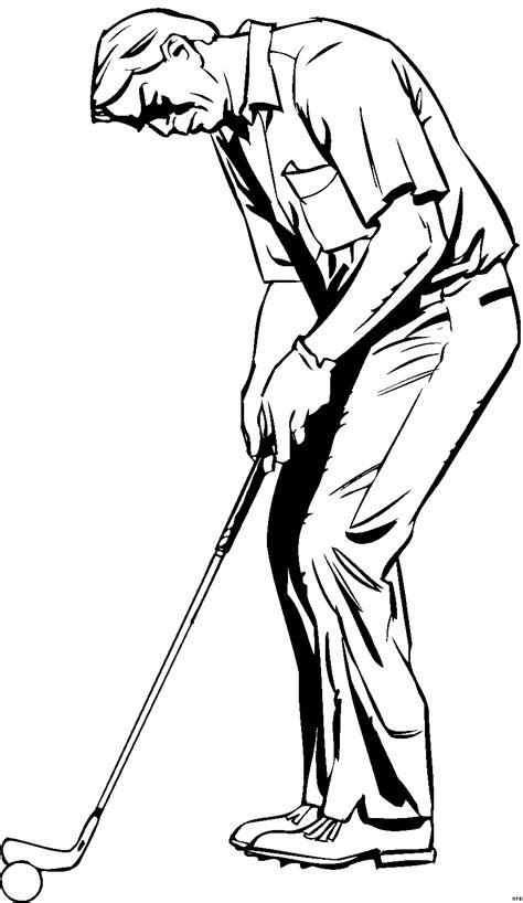 alter mann beim golf ausmalbild malvorlage comics
