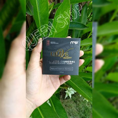 jual ulive beauty bamboo charcoal brightening soap