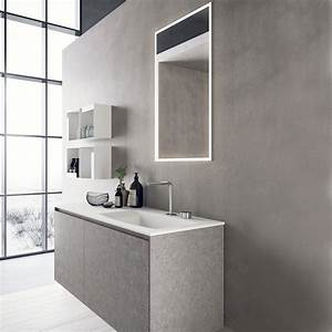 Modern Wall Mount Bathroom Furniture Set Calix 9 Novello