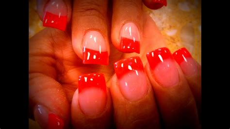 colored tips how to colored acrylic application on nail tips