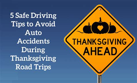 5 Safe Driving Tips to Avoid Auto Accidents During