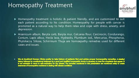 cancer types of cancer and homeopathy treatment