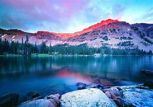 Nature, Sunset, Mountain, Lake, Forest, Landscape, Water