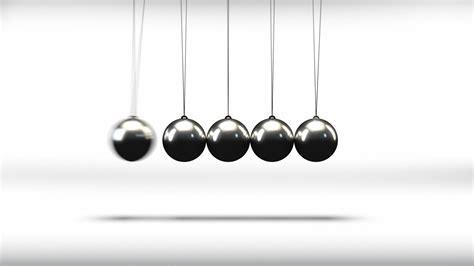 Newton's Cradle Pendulum Balls - Series Of 3 Loop - YouTube