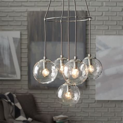 blown glass chandelier 5 light west elm
