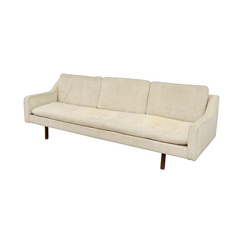 vintage mid century sofa 90 off vintage mid century white single cushion sofa