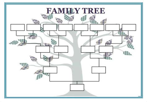 Family Tree Diagram Template Microsoft Word blank family tree template 32 free word pdf documents
