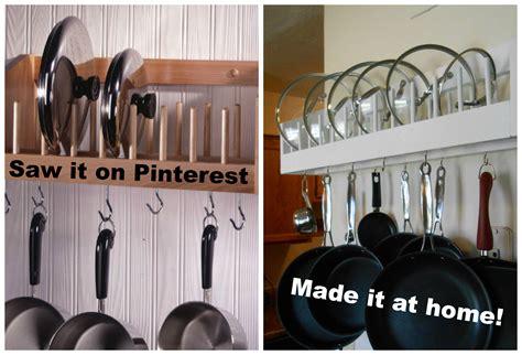 kitchen cabinet pot organizer diy pot rack shelf diy projects 5665