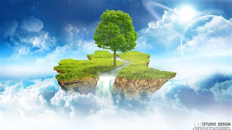 flying island   clouds wallpapers  images
