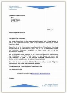 Bewerbungsschreiben beispiel vorlage und muster for Bewerbung kopfzeile vorlage