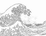 Coloring Ocean Pages Waves Wave Hokusai Printable Colouring Adults Adult Beach Template Sea Sheets Bestcoloringpagesforkids Realistic Line Kleurplaten Dibujo Books sketch template